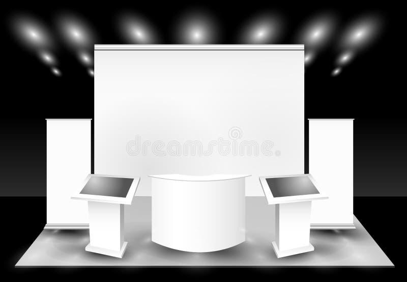 Mostra commerciale in bianco illustrazione di stock