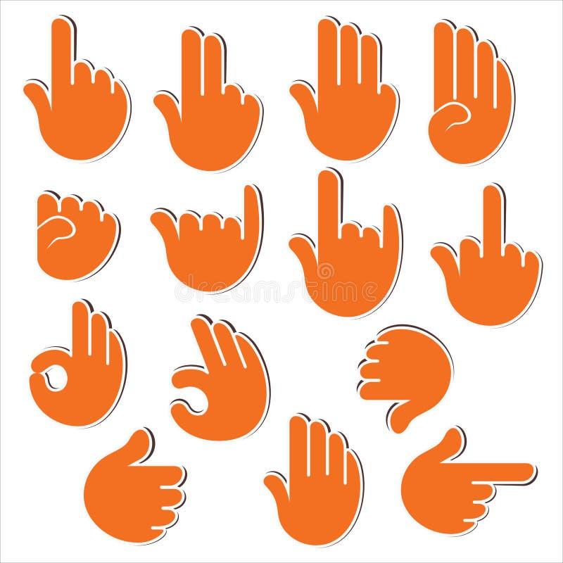 Mostra criativa do sinal ou do sinal à mão ilustração royalty free
