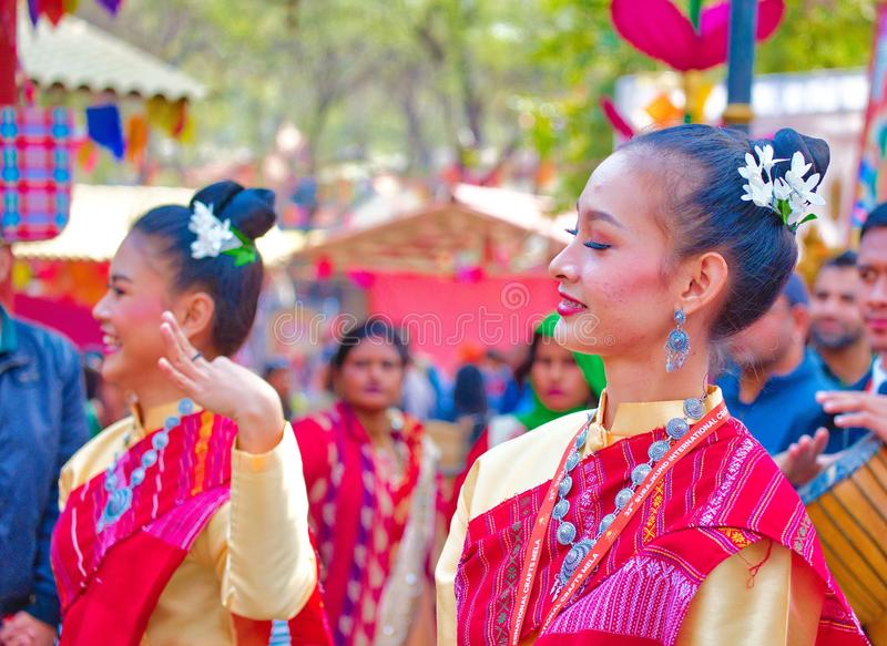 Mostra cultural Surajkund fotografia de stock