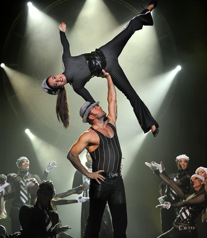 Mostra da dança moderna: Nivelando o banquete imagem de stock royalty free