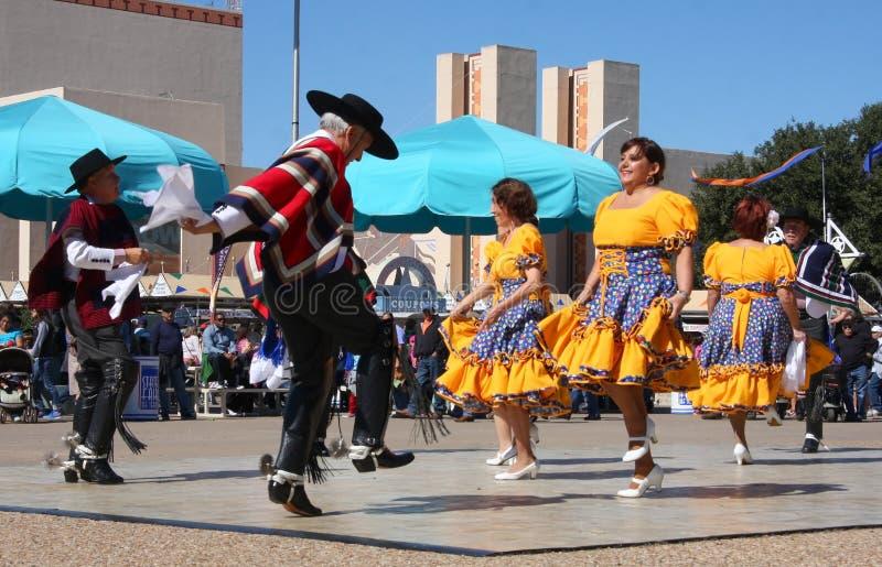 Mostra da dança popular fotografia de stock