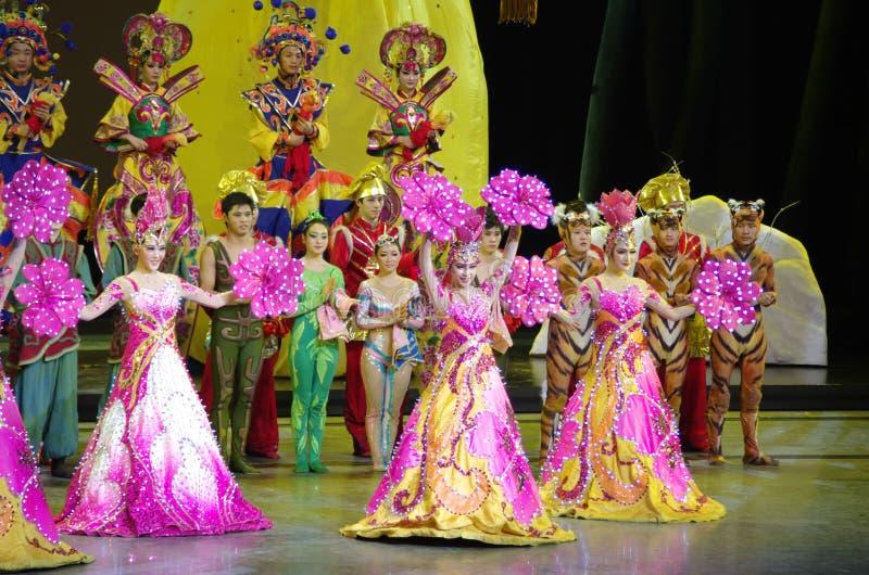 Mostra da dança popular em China fotos de stock
