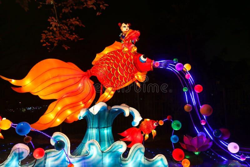 Mostra da lanterna em chengdu, porcelana foto de stock