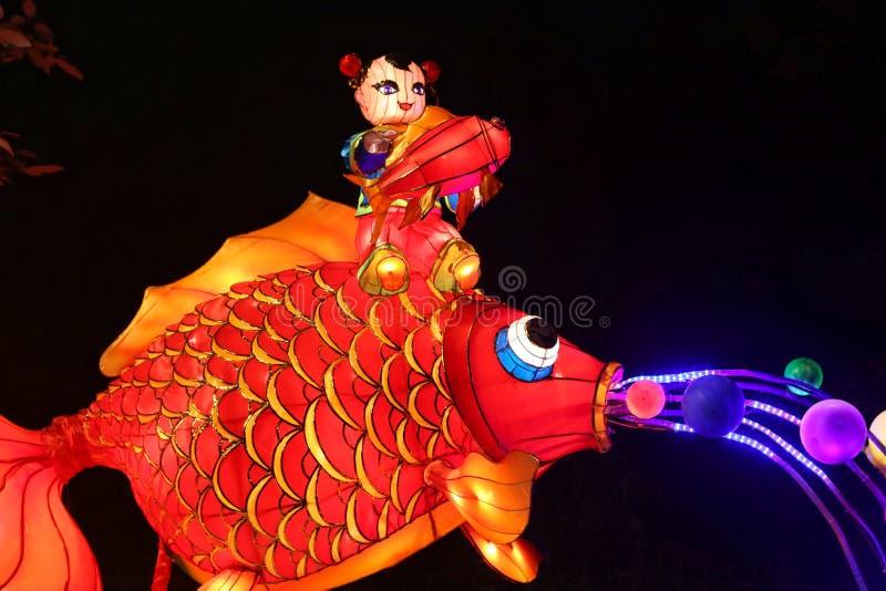 Mostra da lanterna em chengdu, porcelana foto de stock royalty free