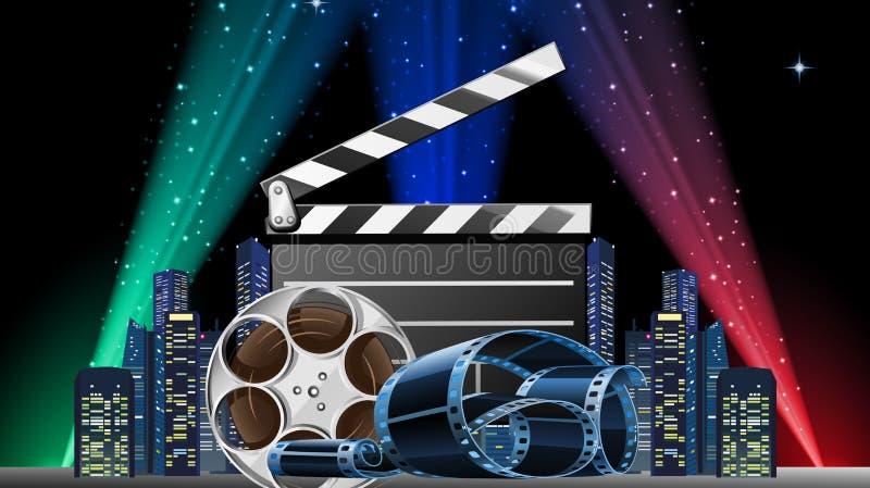 Mostra da premier do filme ilustração do vetor