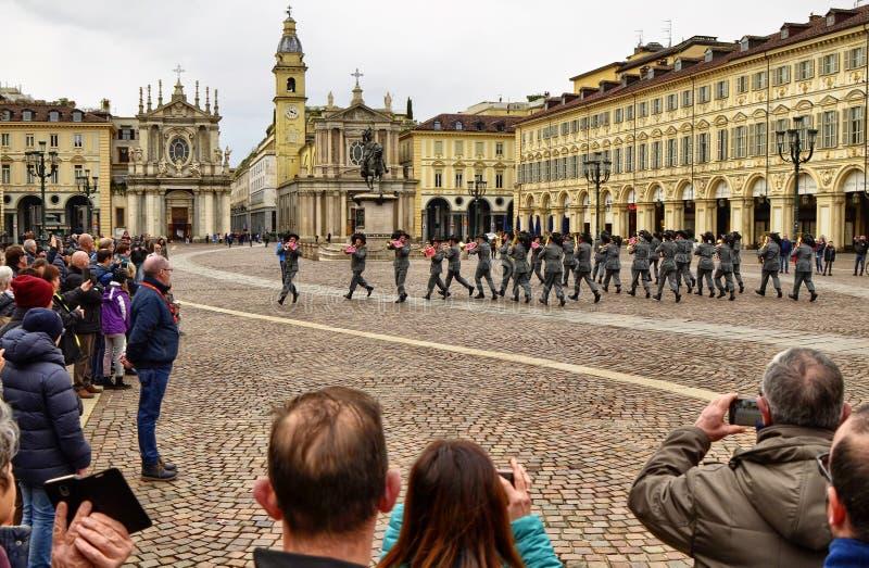 Mostra dal corpo militare del Bersaglieri fotografia stock libera da diritti