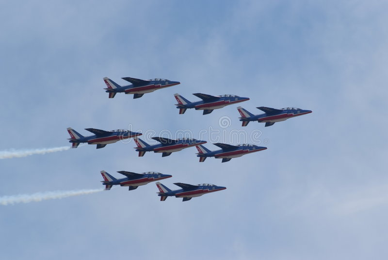 Mostra de ar - equipe 02 de France fotografia de stock