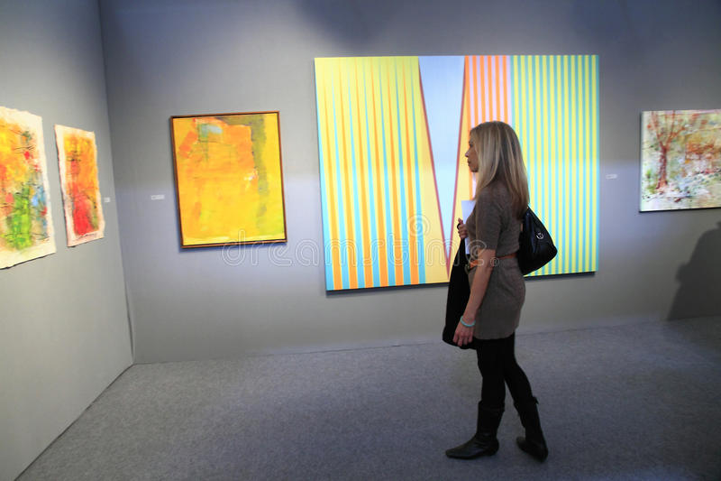 Mostra de arte em New York City imagem de stock royalty free