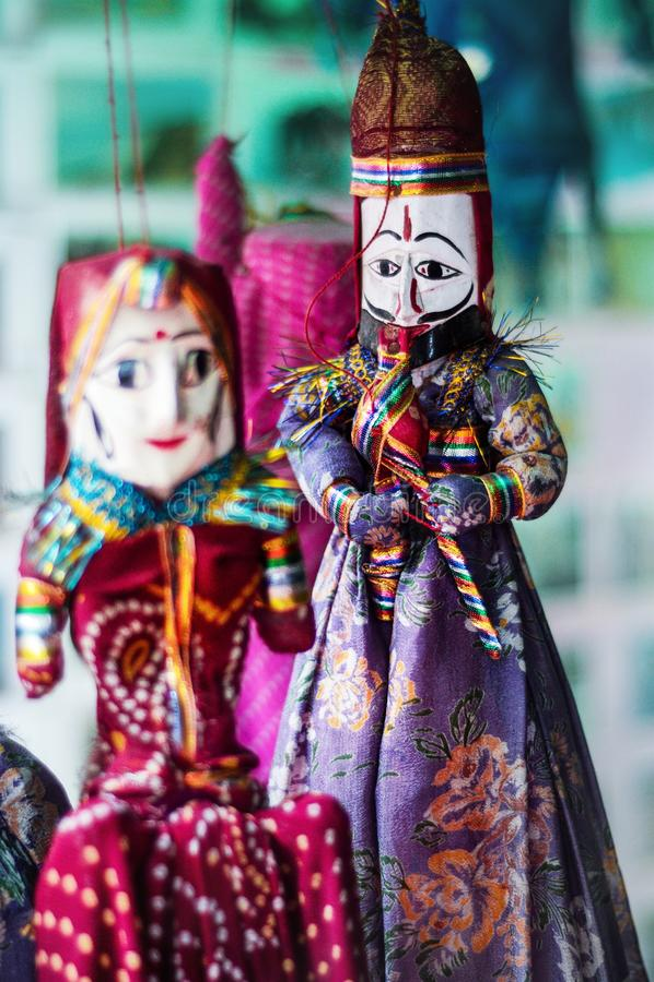 Mostra de fantoche do kochin foto de stock royalty free