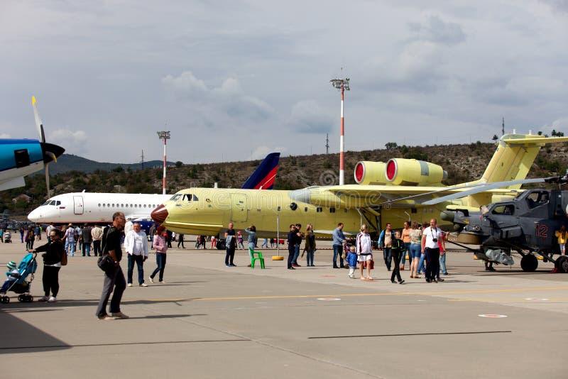 Mostra degli aerei su Gidroaviasalon 2016, Russia fotografie stock