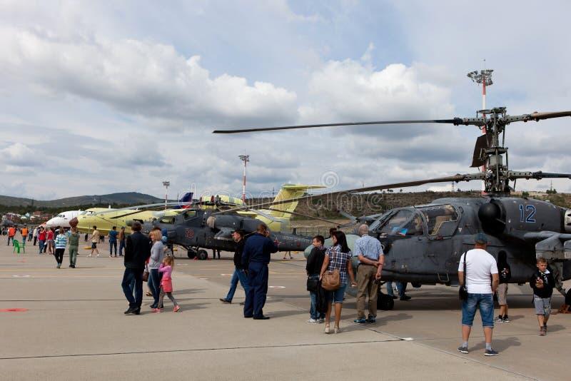 Mostra degli aerei su Gidroaviasalon 2016, Russia immagini stock libere da diritti