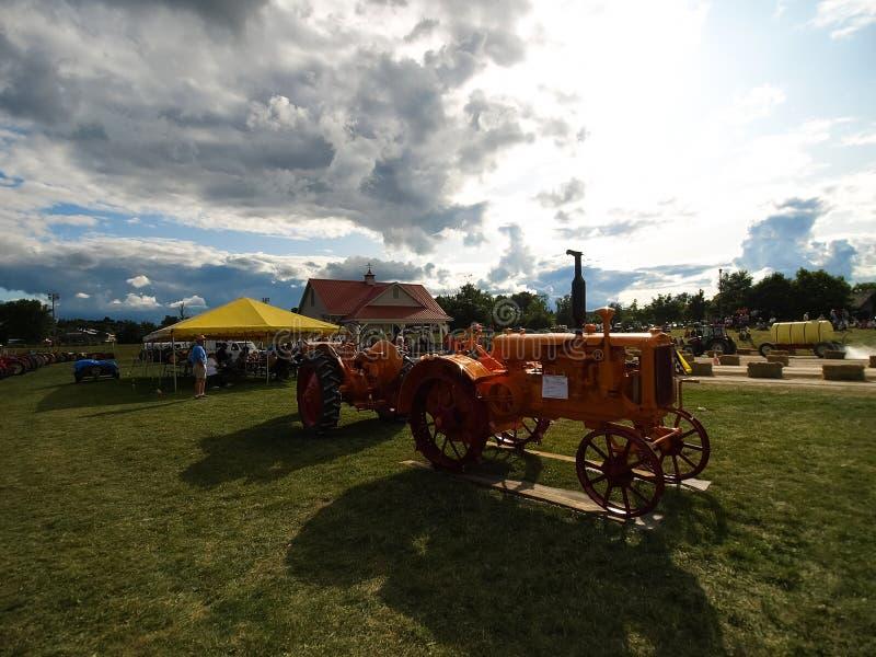 Mostra dei trattori antichi Manifestazione del trattore Mach di Agreecultural immagini stock libere da diritti