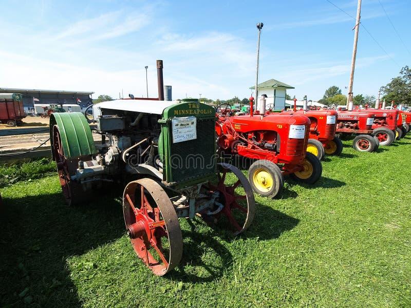 Mostra dei trattori antichi Manifestazione del trattore Mach di Agreecultural fotografia stock libera da diritti