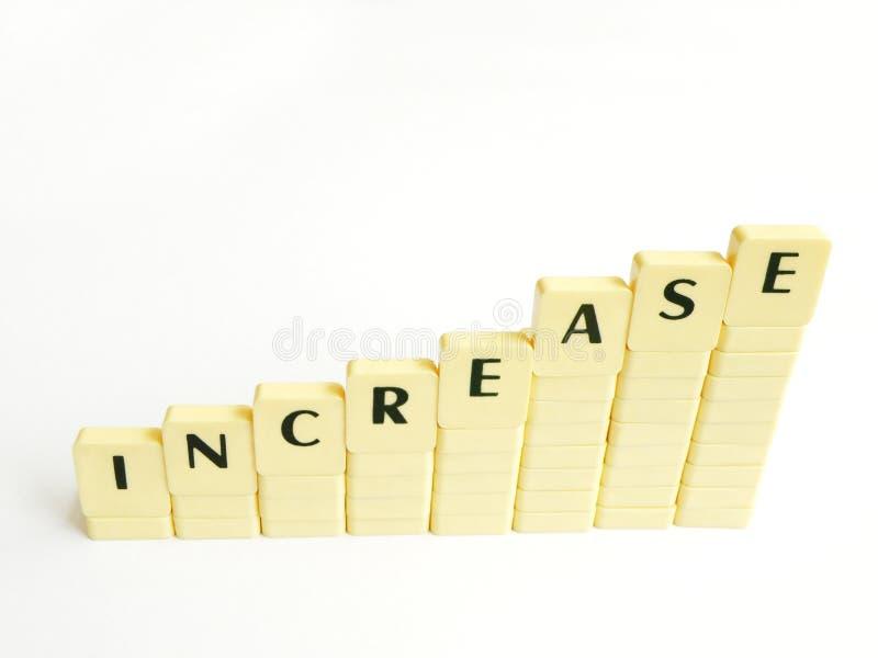 Mostra del concetto di aumento immagini stock