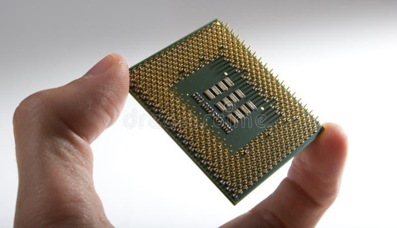Mostra del CPU immagine stock