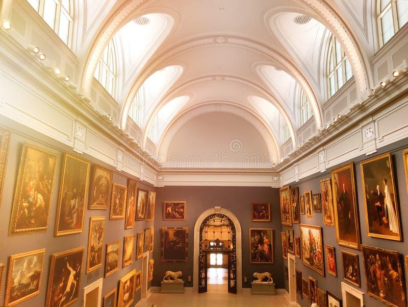 Mostra del museo di arte di Wadsworth Atheneum immagine stock