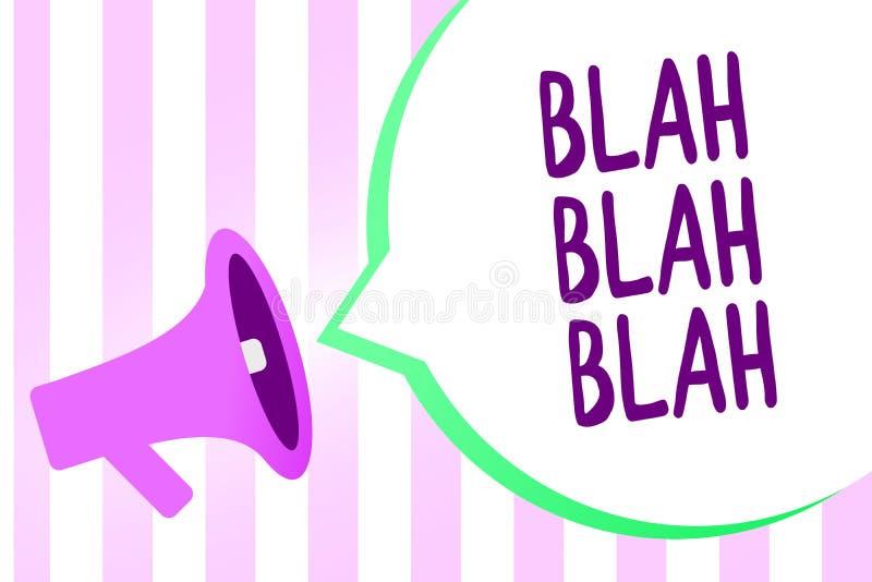 Mostra del segno del testo blabla - blabla La foto concettuale che parla troppe informazioni false pettegola loudspe parlante del illustrazione vettoriale