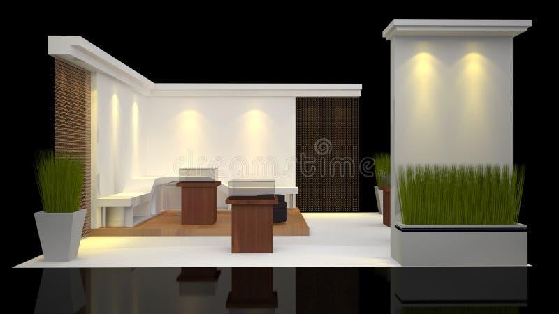 Mostra della cabina illustrazione di stock