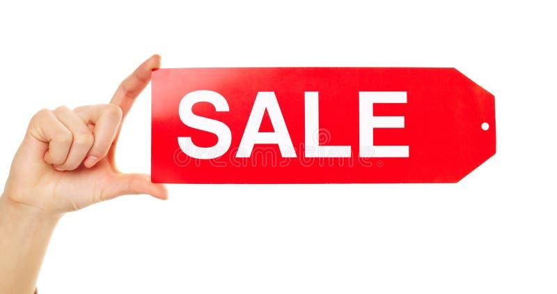 Mostra della modifica di vendita fotografia stock