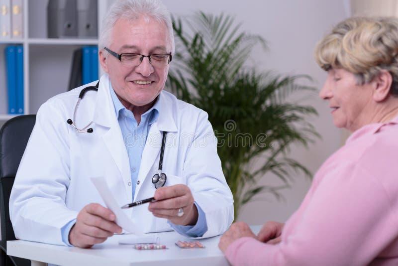 Mostra della prescrizione immagini stock libere da diritti