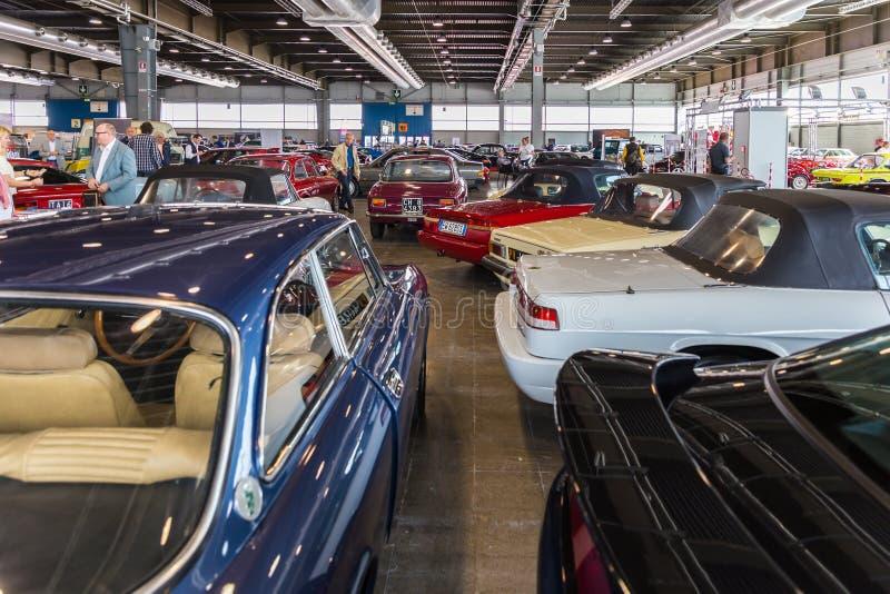 Mostra delle automobili antiche immagine stock libera da diritti