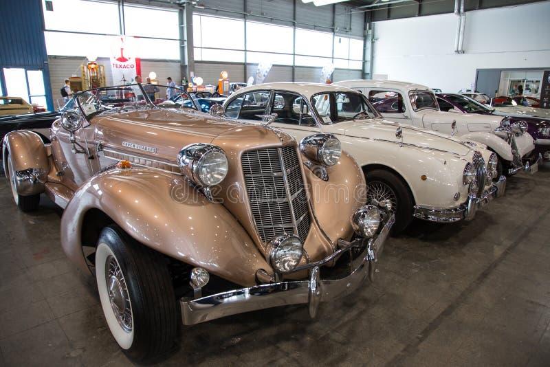 Mostra delle automobili antiche fotografia stock