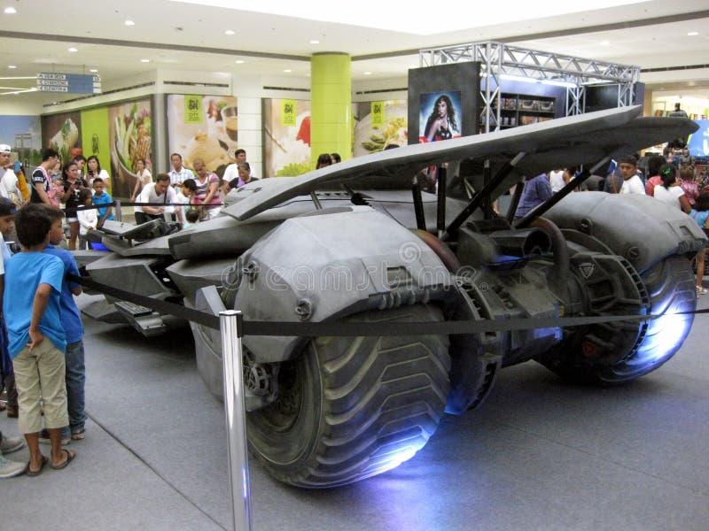 Mostra di Batmobile, centro commerciale di San Jose del Monte della città di MP, Bulacan fotografia stock libera da diritti