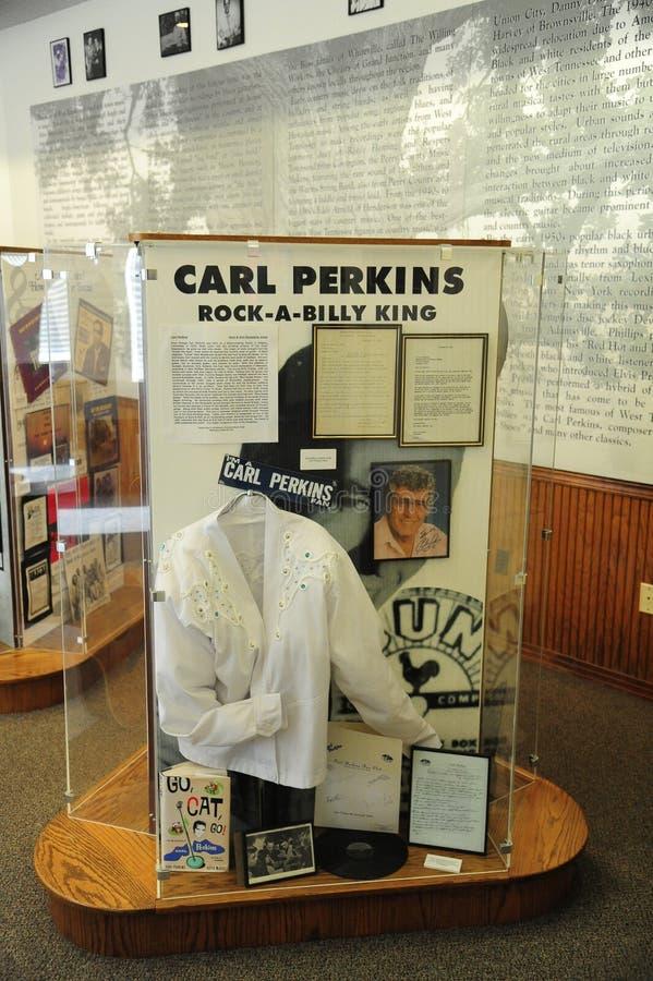 Mostra di Carl Perkins a Tennessee Delta Heritage Center ed al museo ad ovest fotografia stock libera da diritti