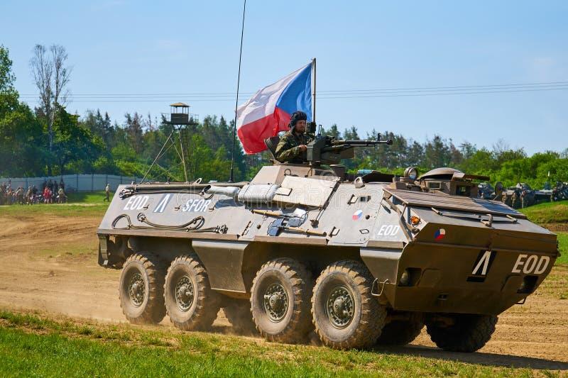 Mostra do dia aberto no museu militar em Lesany fotografia de stock royalty free