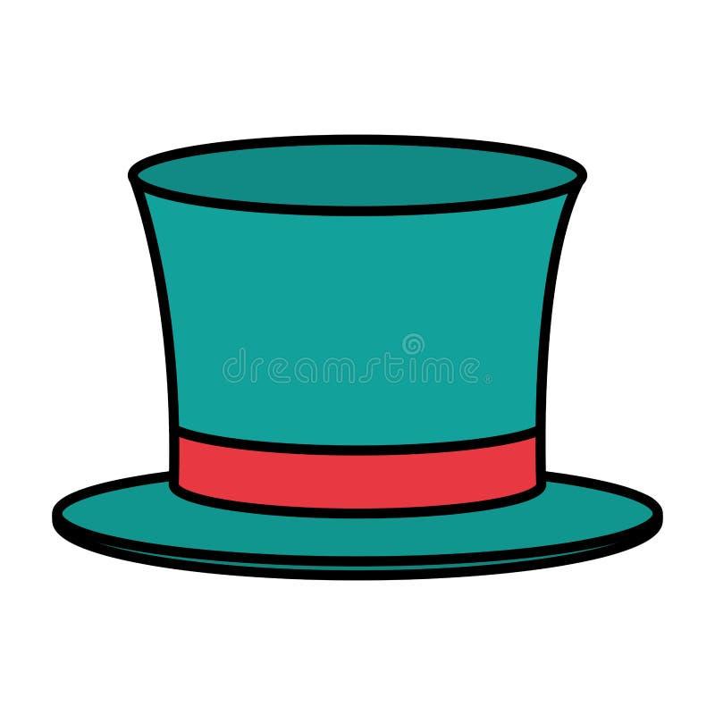 Mostra do festival do partido do chapéu do carnaval da cor ilustração royalty free