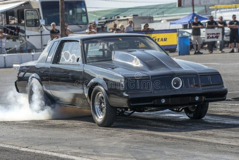 Mostra do fumo de Buick imagem de stock