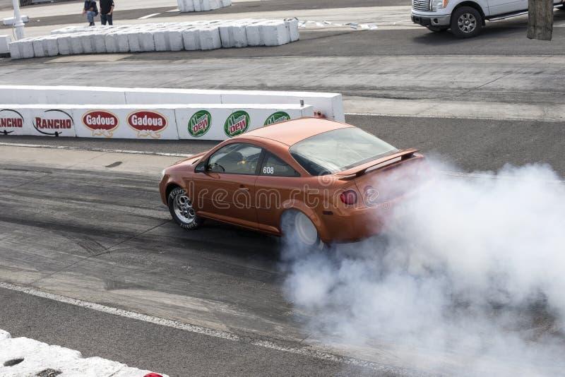 Mostra do fumo do carro foto de stock