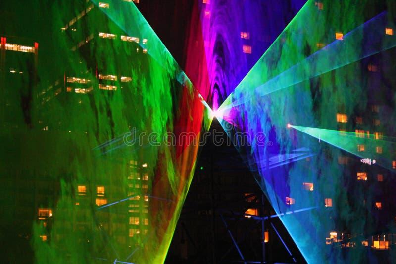 Mostra 1 do laser fotografia de stock