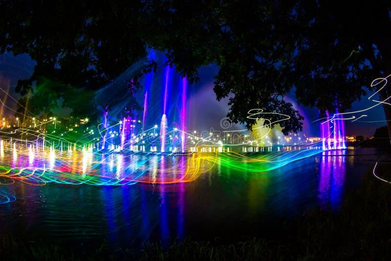 Mostra do laser da água imagem de stock