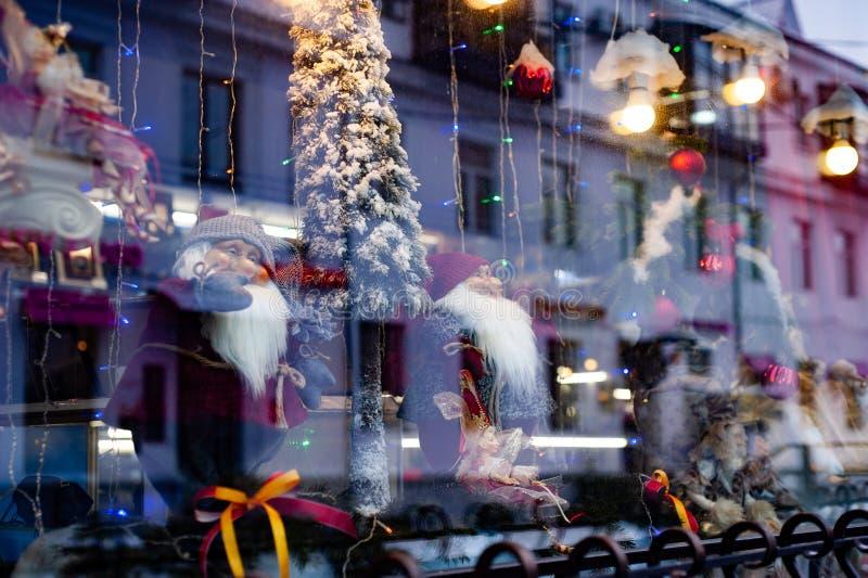 Mostra do Natal com fantoches imagem de stock royalty free