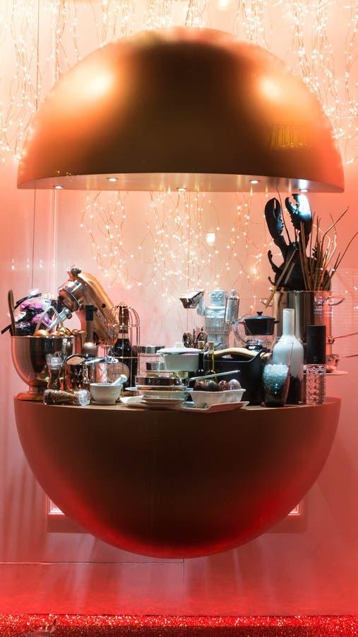 A mostra do Natal na loja de vinho Bordeauxtheque imagem de stock royalty free