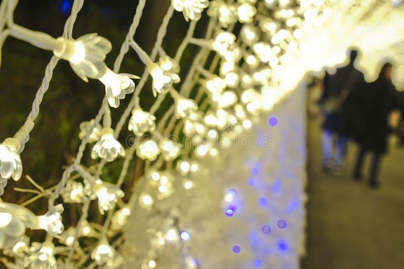 Mostra do túnel da iluminação da luz do close up imagem de stock