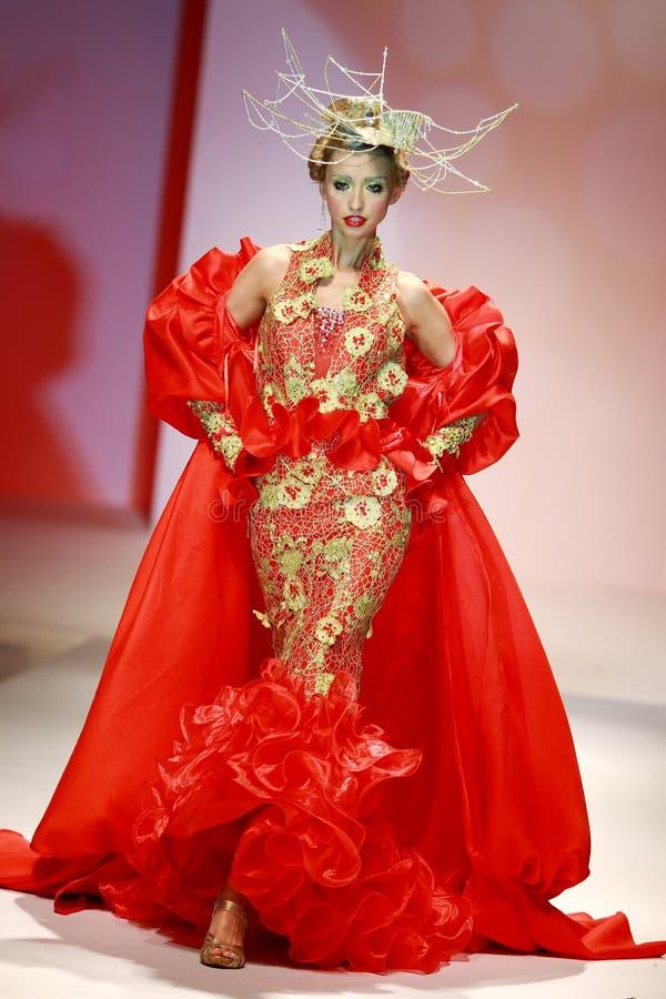 Mostra do vestido de casamento imagens de stock
