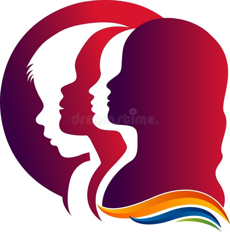 Mostra em silhueta o logotipo da família ilustração royalty free