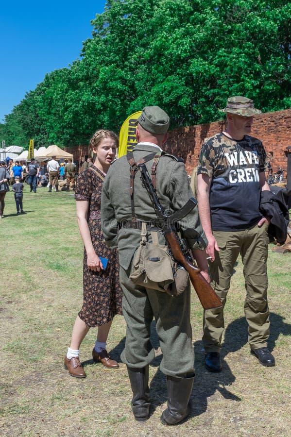 Mostra histórica da re-promulgação - granadeiro 2017 foto de stock