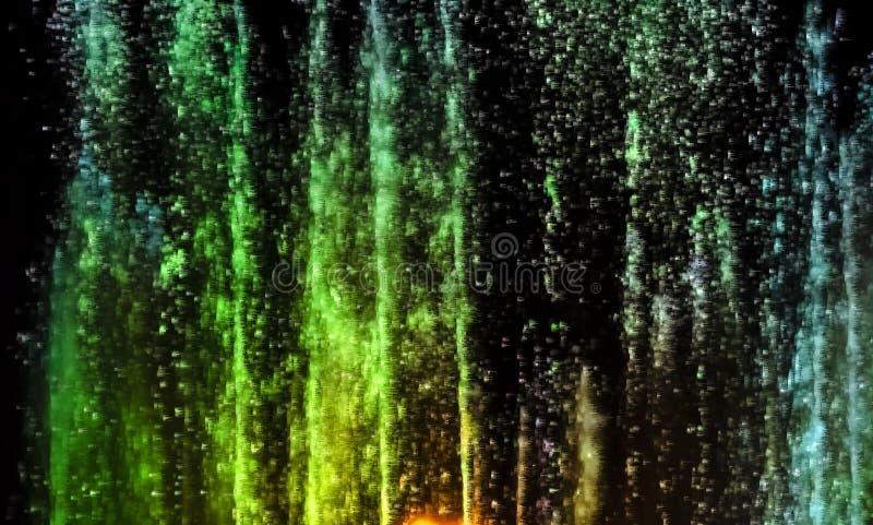 Mostra musical colorida dos multimédios na fonte de Anapa imagens de stock royalty free