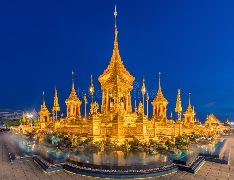 Mostra reale di cremazione, Sanam Luang, Bangkok, Tailandia su Novem immagini stock