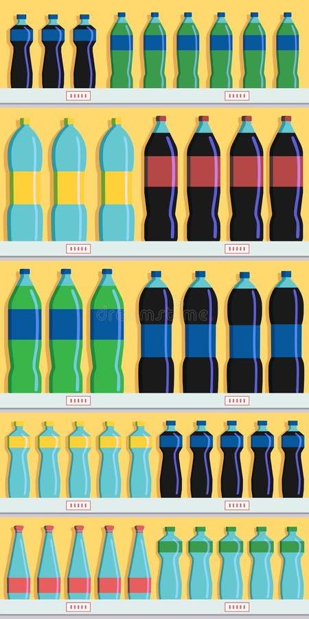 Mostra vazia e completa showcase ilustração stock