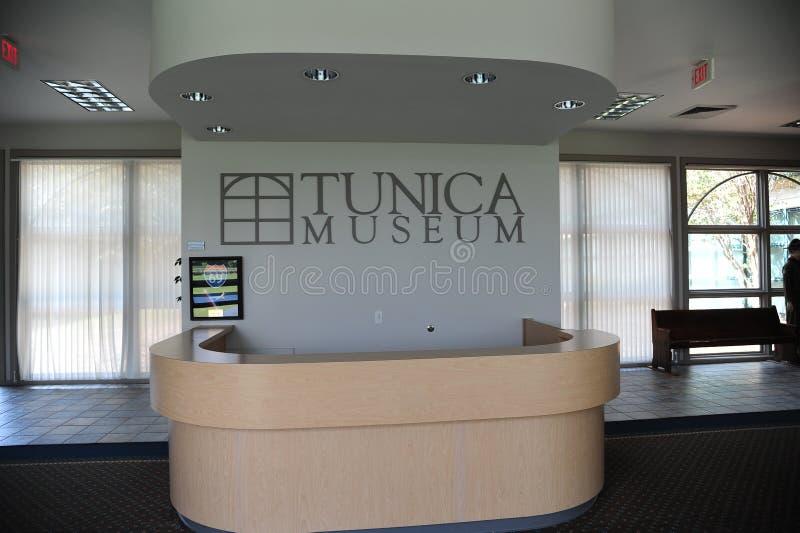 Mostrador en el museo del Tunica en Mississippi del norte fotografía de archivo libre de regalías