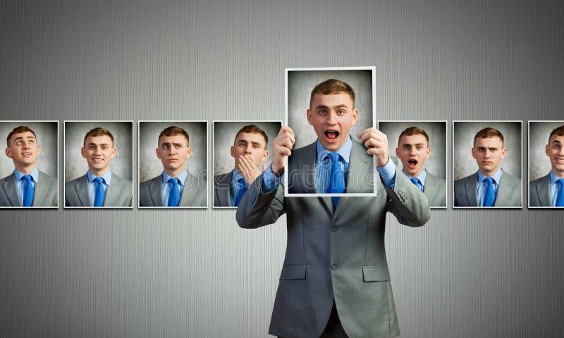 Mostrando emoções fotografia de stock