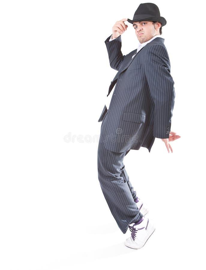 Mostrando movimentos da dança do MJ fotografia de stock royalty free