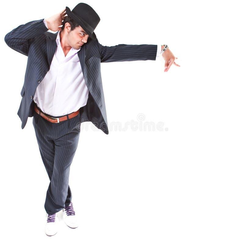 Mostrando movimentos da dança do MJ imagens de stock royalty free