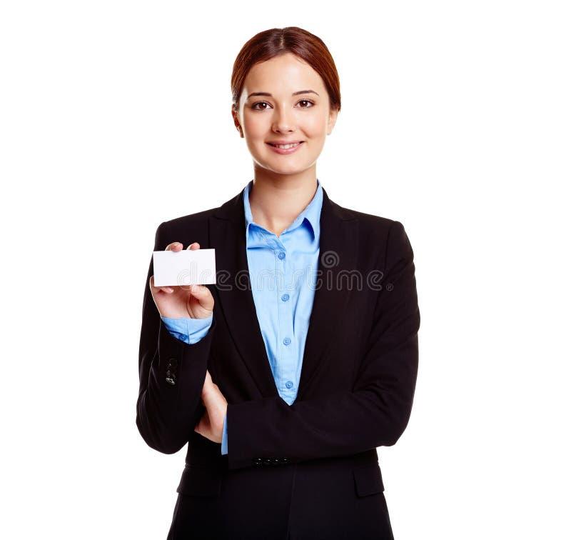 Mostrando o cartão fotografia de stock royalty free
