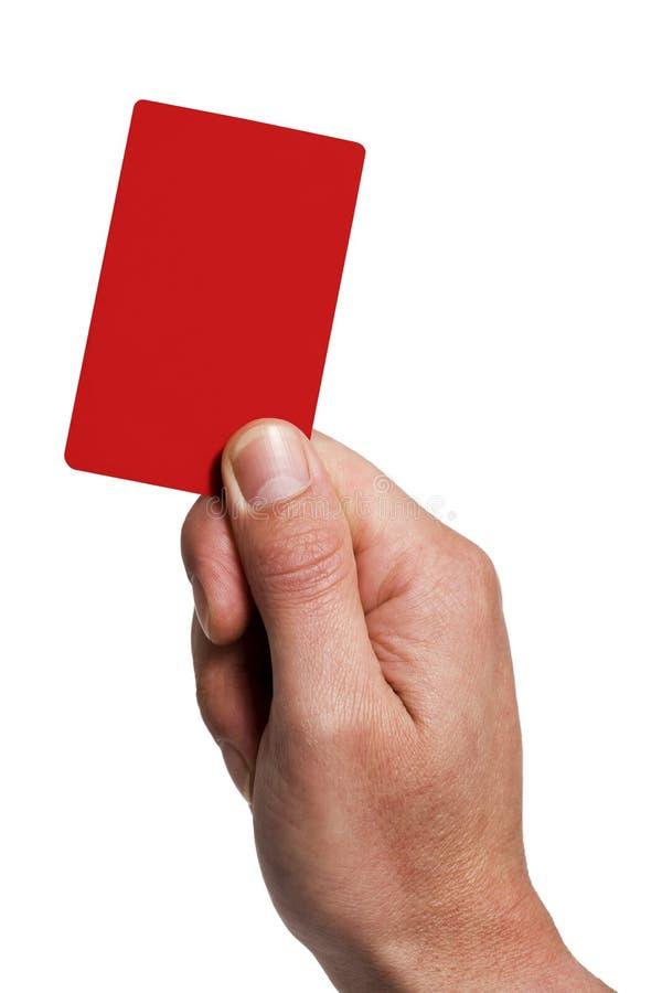 Mostrando o cartão da penalidade imagem de stock royalty free
