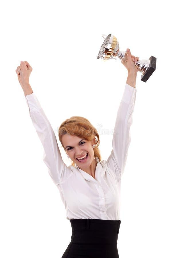 Download Mostrando Seu Troféu Grande Foto de Stock - Imagem de celebration, cabeça: 16865960